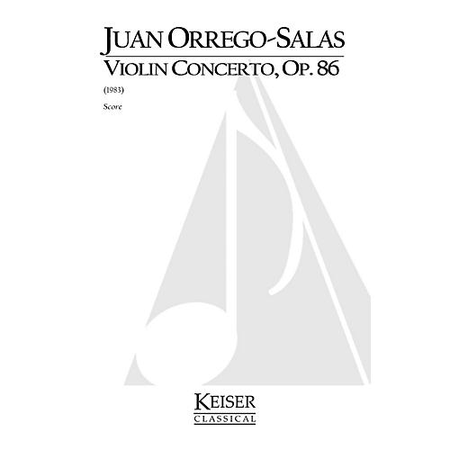 Lauren Keiser Music Publishing Violin Concerto, Op. 86 LKM Music Series Composed by Juan Orrego-Salas
