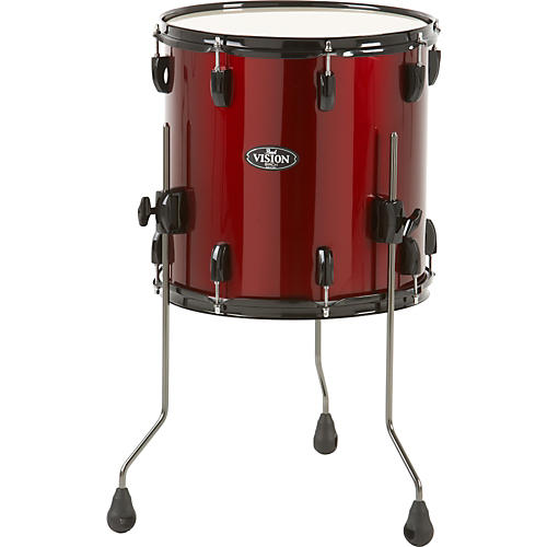 pearl vision birch floor tom wine red 18 x 16 in guitar