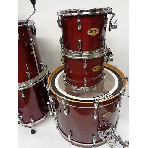 used pearl vision drum kit red guitar center. Black Bedroom Furniture Sets. Home Design Ideas
