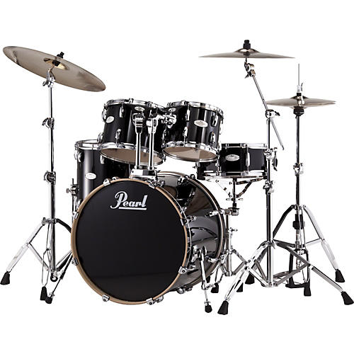 Pearl Vision Maple Lacquer Standard Shell Pack Piano Black-thumbnail