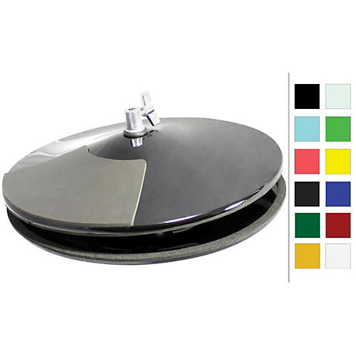 Pintech VisuLite Professional Hi-Hat Cymbals with Included Controller 13 in. Fluorescent Yellow