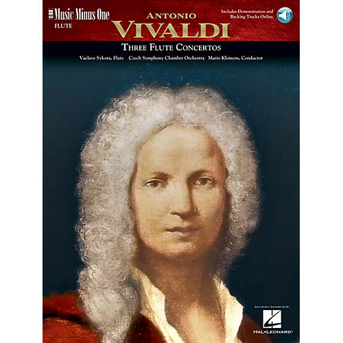 Music Minus One Vivaldi Flute Concerti in D Major (RV429); G Major (RV435); A Minor (RV440) Music Minus One Book/CD