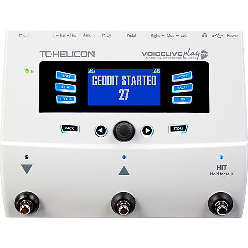 TC Helicon VoiceLive Play GTX Guitar/Vocal Harmony and Effects Pedal-thumbnail