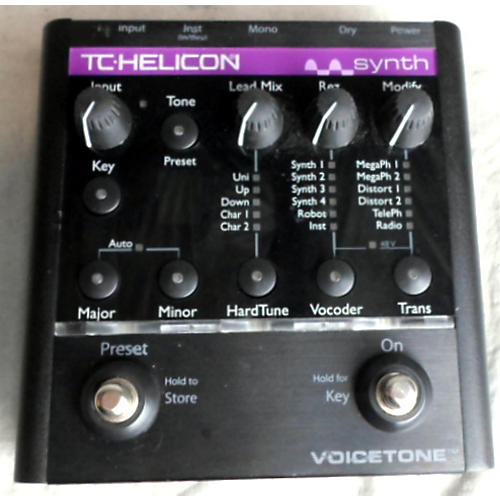 TC Helicon VoiceTone Synth Black Vocal Processor