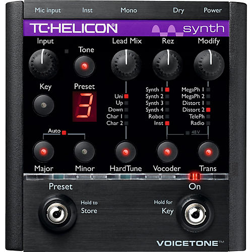 TC Helicon VoiceTone Synth HardTune & Vocoder Pedal-thumbnail
