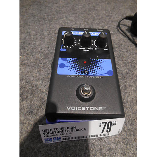 TC Helicon Voicetone H1 Black And Purple Vocal Processor