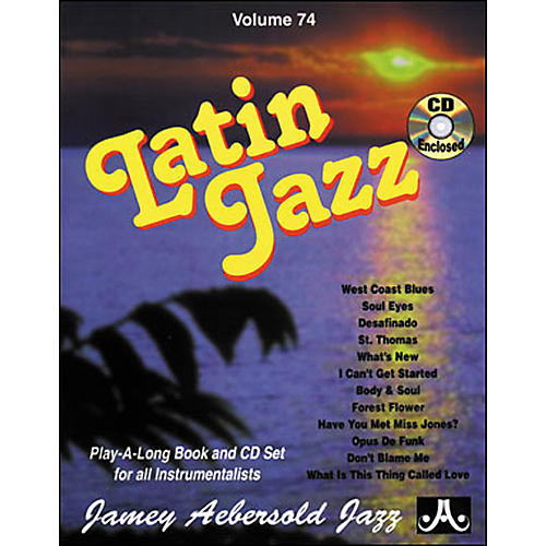 Jamey Aebersold Volume 74 - Latin Jazz - Play-Along Book and CD Set-thumbnail
