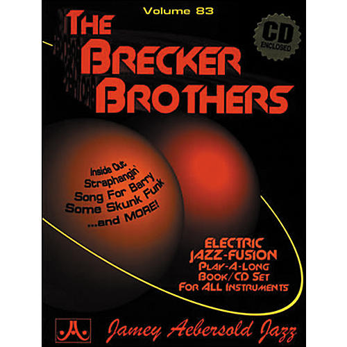 Jamey Aebersold Volume 83 - The Brecker Brothers - Play-Along Book and CD Set-thumbnail