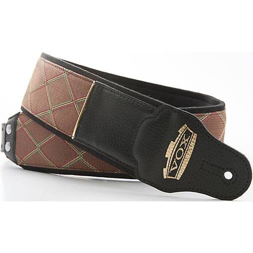 Right On Vox Diamond Jazz Leather Ornament Guitar Strap-thumbnail
