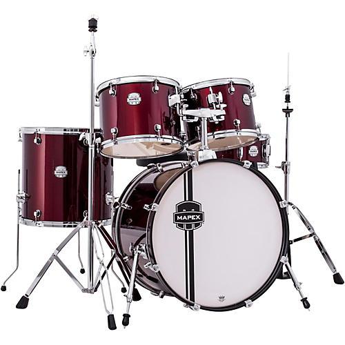 mapex voyager standard drum set dark red guitar center. Black Bedroom Furniture Sets. Home Design Ideas