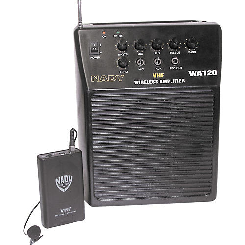 Nady WA 120 Portable PA System with Wireless Omni-Lavalier Mic
