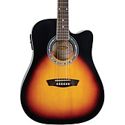 WA90CE Dreadnought Acoustic Electric Guitar Vintage Tobacco Sunburst