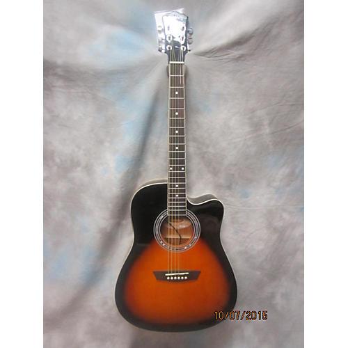 used washburn wa90ce vsb acoustic electric guitar guitar center. Black Bedroom Furniture Sets. Home Design Ideas