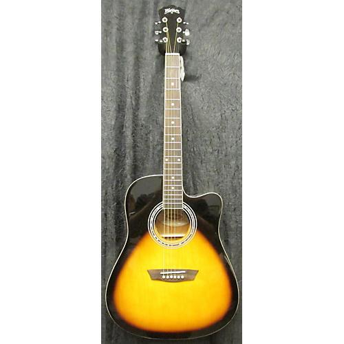 Washburn WA90CE Vintage Sunburst Acoustic Electric Guitar