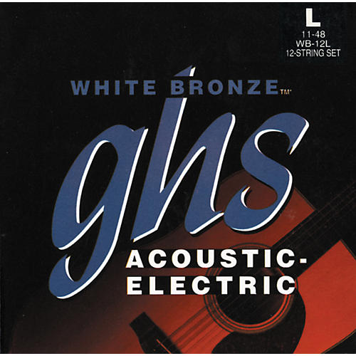 GHS WB12L White Light 12-String Acoustic-Electric Guitar Strings
