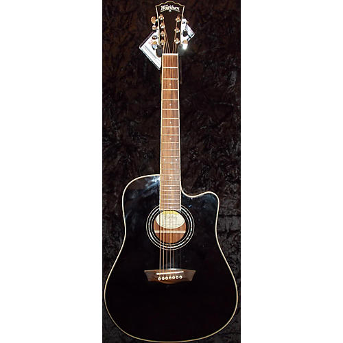 Washburn WCD187CEB 7 String Acoustic Acoustic Electric Guitar