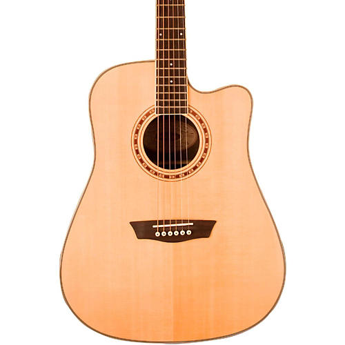 Washburn WD 20SCE Cutaway Dreadnought Acoustic-Electric Guitar-thumbnail
