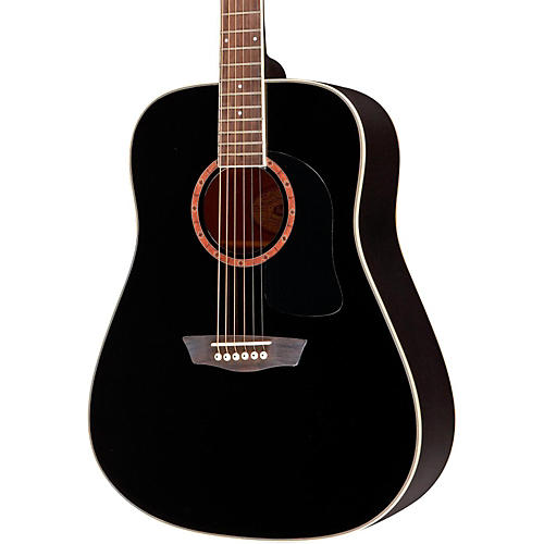Washburn WD100DL Dreadnought Mahogany Acoustic Guitar Black-thumbnail
