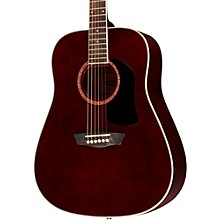 WD100DL Dreadnought Mahogany Acoustic Guitar Transparent Wine Red
