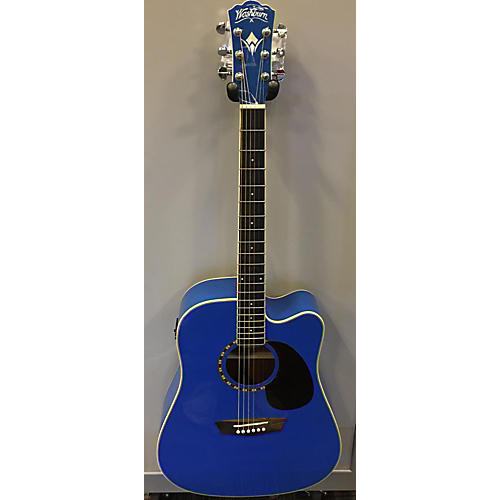 Washburn WD10CEBL Acoustic Electric Guitar-thumbnail