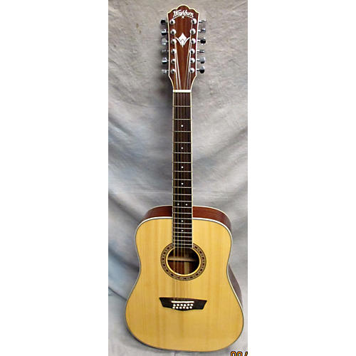 Washburn WD10S/12 Natural 12 String Acoustic Guitar-thumbnail