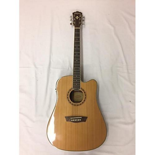 used washburn wd10sce acoustic electric guitar natural guitar center. Black Bedroom Furniture Sets. Home Design Ideas