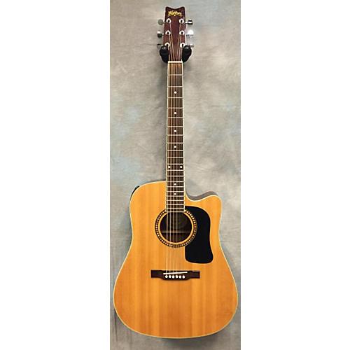 Washburn WD10SCE Dread AE W/Ctwy Acoustic Electric Guitar