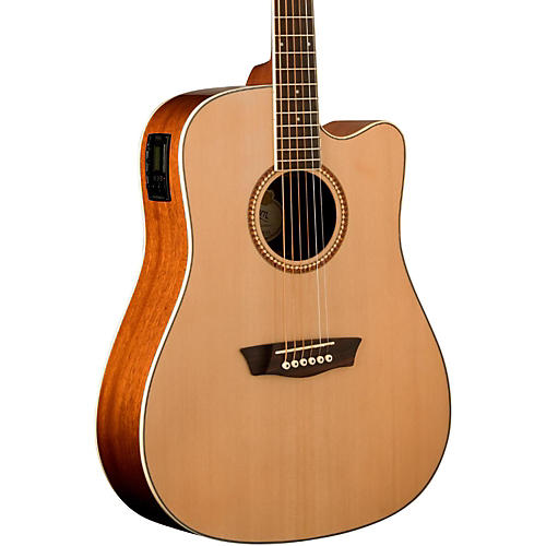 Washburn WD12SCE Acoustic-Electric Guitar Natural