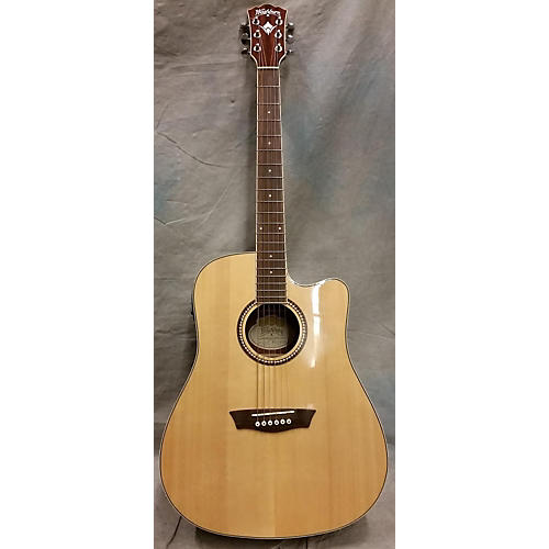 Washburn WD12SCE Acoustic Electric Guitar-thumbnail