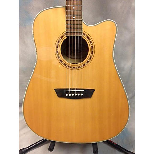 Washburn WD40SCE Natural Acoustic Electric Guitar-thumbnail