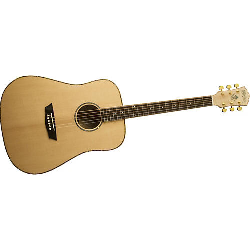 Washburn WD45S Solid Sitka Spruce Top Acoustic Dreadnought Flame Maple Guitar-thumbnail