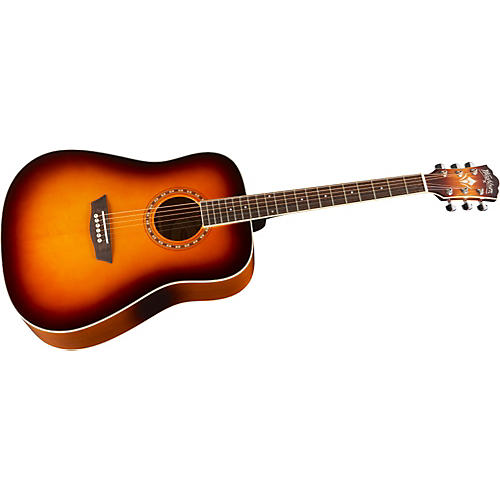 Washburn WD7SA Solid Sitka Spruce Top Acoustic Dreadnought Guitar