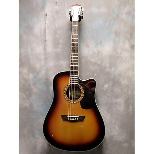 used washburn wd7sce acoustic electric guitar guitar center. Black Bedroom Furniture Sets. Home Design Ideas