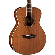 WF19S Mahogany Solid Top Folk Acoustic Guitar Natural