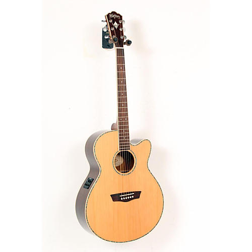 Washburn WG26SCE Solid Cedar Top Acoustic Cutaway Electric Grand Auditorium Rosewood Guitar with Fishman Preamp And Tuner Natural 888365293103