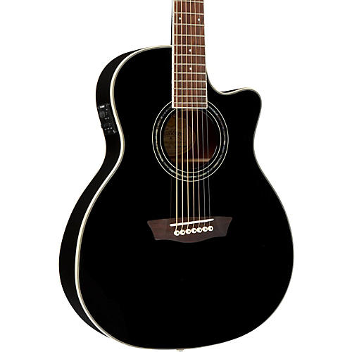 Washburn WGC187 Grand Auditorium 7-String with Belly Carve Arm Scarf Acoustic Electric Guitar-thumbnail
