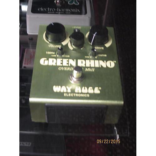 Way Huge Electronics WHE202 Green Rhino Overdrive Effect Pedal-thumbnail