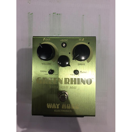 Way Huge Electronics WHE202 Green Rhino Overdrive Effect Pedal-thumbnail