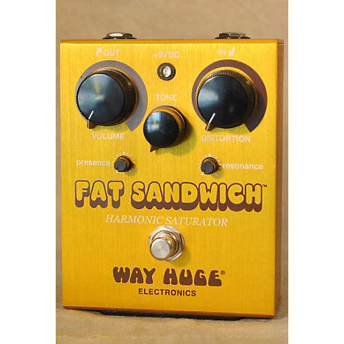 Way Huge Electronics WHE301 Fat Sandwich Harmonic Saturator Distortion Effect Pedal-thumbnail