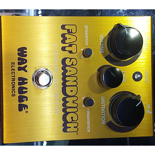 Way Huge Electronics WHE301 Fat Sandwich Harmonic Saturator Distortion Effect Pedal-thumbnail