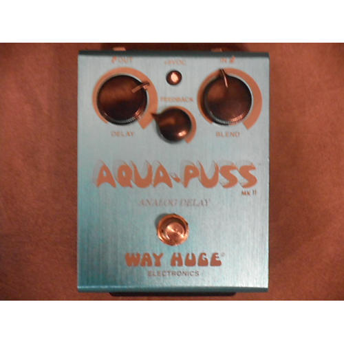Way Huge Electronics WHE701 Aqua Puss Analog Delay Blue Effect Pedal