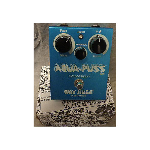 Way Huge Electronics WHE701 Aqua Puss Analog Delay Effect Pedal-thumbnail