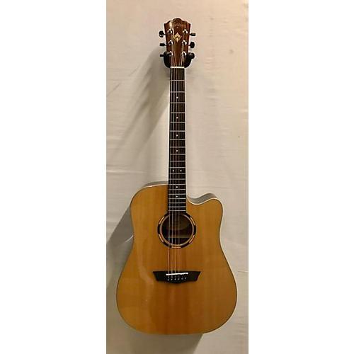used washburn wld20sce acoustic electric guitar natural guitar center. Black Bedroom Furniture Sets. Home Design Ideas