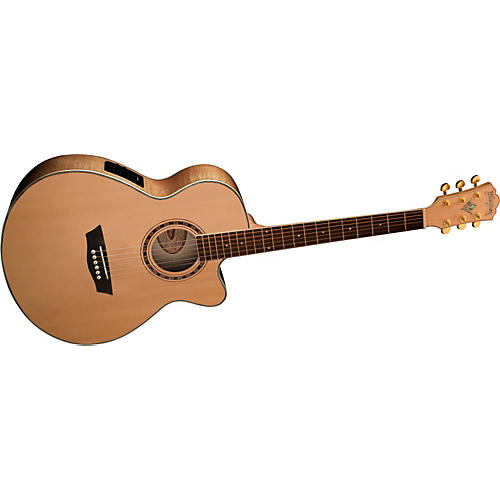 washburn wmj40sce solid sitka spruce top acoustic cutaway electric mini jumbo flame maple guitar. Black Bedroom Furniture Sets. Home Design Ideas