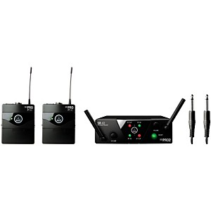 AKG WMS 40 Mini2 Instrument Wireless Microphone Set with D8000M Handheld by AKG