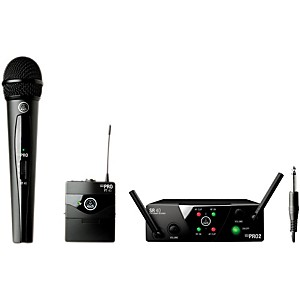 AKG WMS 40 Mini2 Vocal/Instrument Wireless Microphone Set with D8000M Handh...