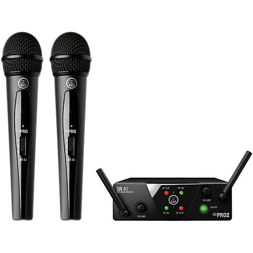 AKG WMS 40 Mini2 Vocal Wireless Microphone Set with D8000M Handheld-thumbnail