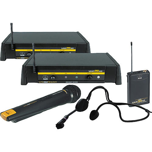 AKG WMS 40 Twin Pack Dual System with D 880 Handheld Microphone and C 444 Headset