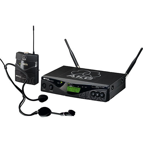 AKG WMS 400 Body Pack Wireless System with C 444 L Headset Mic-thumbnail