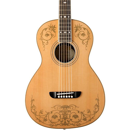Washburn WP5234S Parlor Acoustic Guitar with Gold Leaf Design-thumbnail